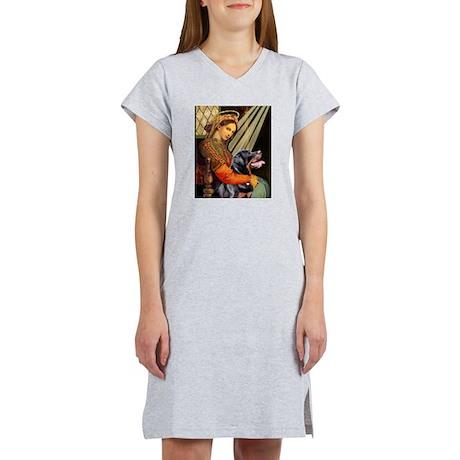 Madonna/Rottweiler Women's Nightshirt
