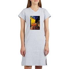 Cafe & Rottweiler Women's Nightshirt