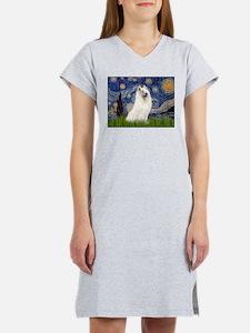 Starry / Samoyed Women's Nightshirt