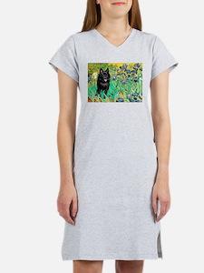 Irises / Schipperke #2 Women's Nightshirt