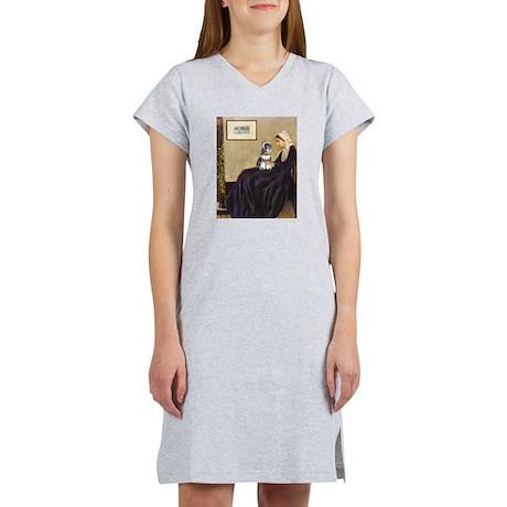 Whistler's Mother /Schnauzer Women's Nightshirt