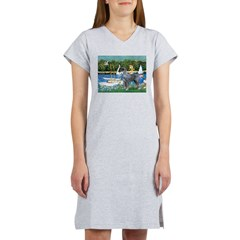 PS G. Schnauzer & Sailboats Women's Nightshirt