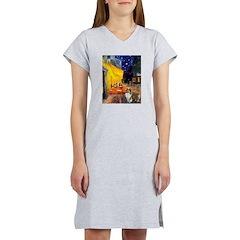 Cafe / Sheltie Women's Nightshirt