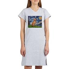 Starry Night / Vizsla Women's Nightshirt