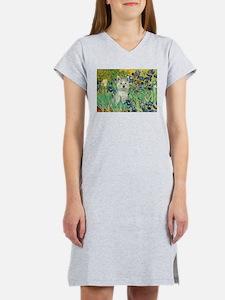 Irises / Westie Women's Nightshirt