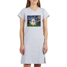 Starry Night/Westie Women's Nightshirt