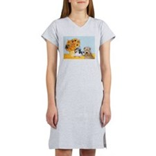 Sunflowers/PBGV + Wheaten T Women's Nightshirt