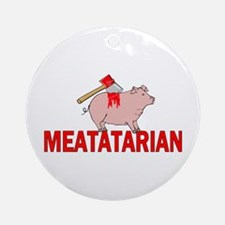Meatatarian Ornament (Round)