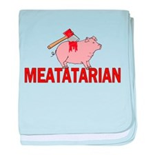 Meatatarian baby blanket