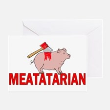 Meatatarian Greeting Card