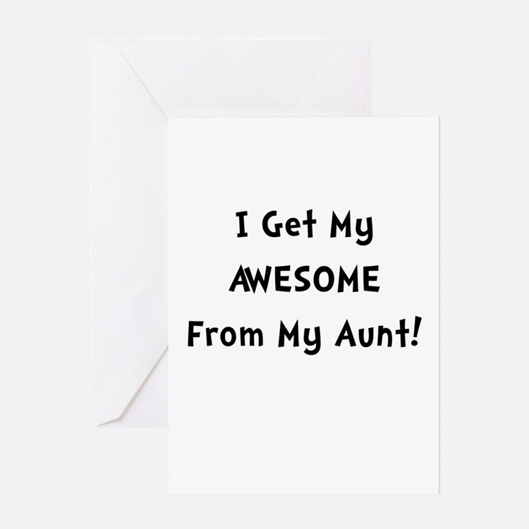 Awesome From Aunt Greeting Card