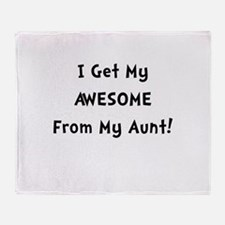 Awesome From Aunt Throw Blanket