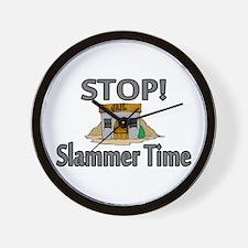 Stop Slammer Time Wall Clock