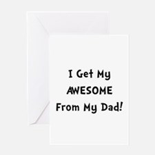 Awesome From Dad Greeting Card