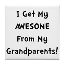 Awesome From Grandparents Tile Coaster