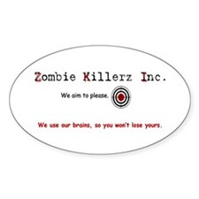 Cute Zombie survival guide Decal