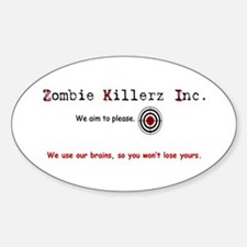 Unique World war z %2covie Sticker (Oval)
