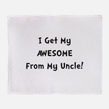 Awesome From Uncle Throw Blanket