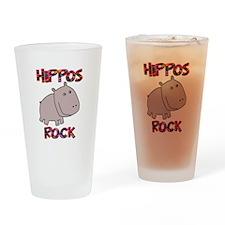 Hippos Rock Drinking Glass