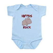 Hippos Rock Infant Bodysuit