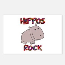 Hippos Rock Postcards (Package of 8)