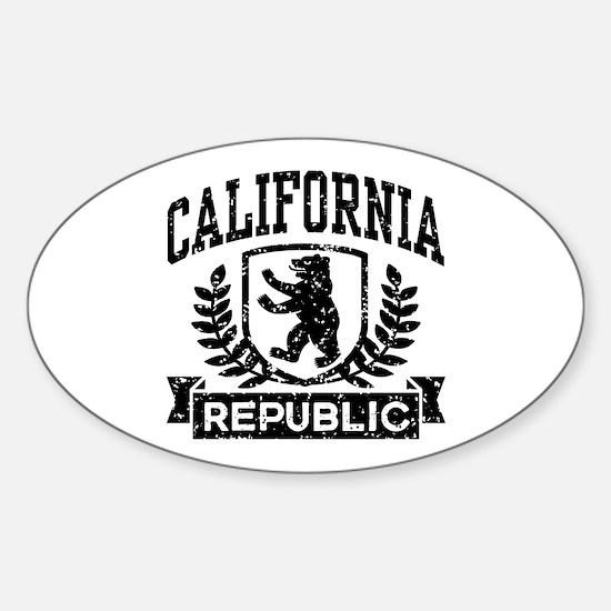 California Republic Sticker (Oval)
