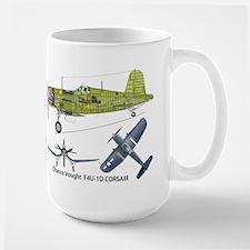 F4U Corsair Pappy Boyington Black Sheep Large Mug