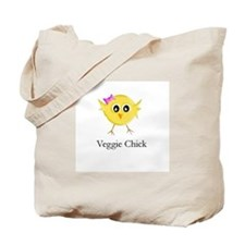 Veggie Chick Tote Bag