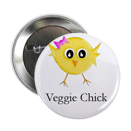 "Veggie Chick 2.25"" Button (100 pack)"