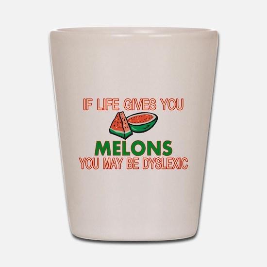 Dyslexic Melons Shot Glass