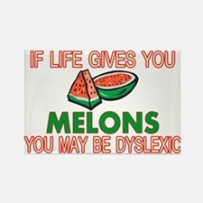 Dyslexic Melons Rectangle Magnet