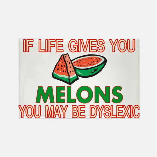Dyslexic Melons Rectangle Magnet
