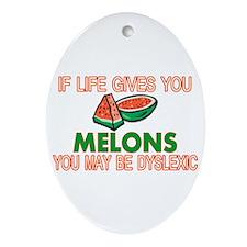 Dyslexic Melons Ornament (Oval)