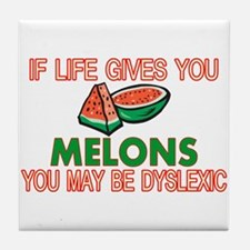Dyslexic Melons Tile Coaster