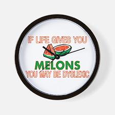 Dyslexic Melons Wall Clock
