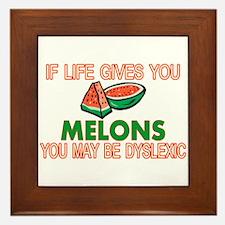 Dyslexic Melons Framed Tile