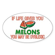 Dyslexic Melons Decal