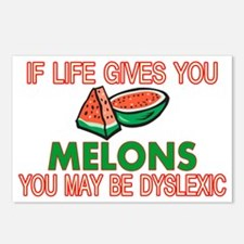 Dyslexic Melons Postcards (Package of 8)