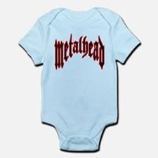 MetalHead Black and Red Logo Infant Bodysuit