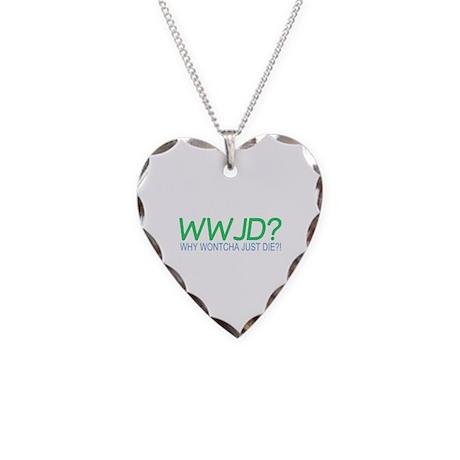 WWJD Necklace Heart Charm