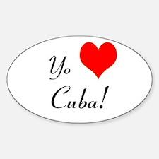 Yo Amo A Cuba! Decal
