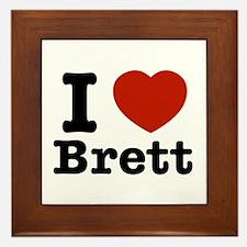 I love Brett Framed Tile