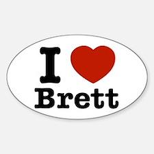 I love Brett Sticker (Oval)