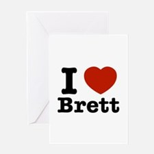 I love Brett Greeting Card