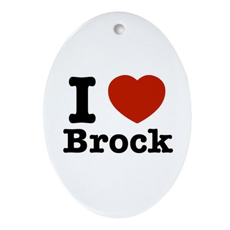 I love Brock Ornament (Oval)
