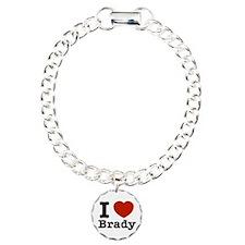 I love Brady Charm Bracelet, One Charm