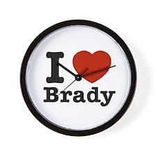 I love Brady Wall Clock