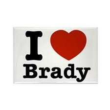 I love Brady Rectangle Magnet