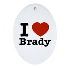 I love Brady Ornament (Oval)