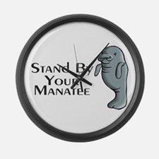 Stand By Your Manatee Large Wall Clock